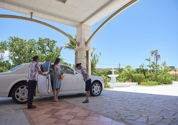 We take to and from to airport and remote island terminal in Rolls-Royce of hotel.