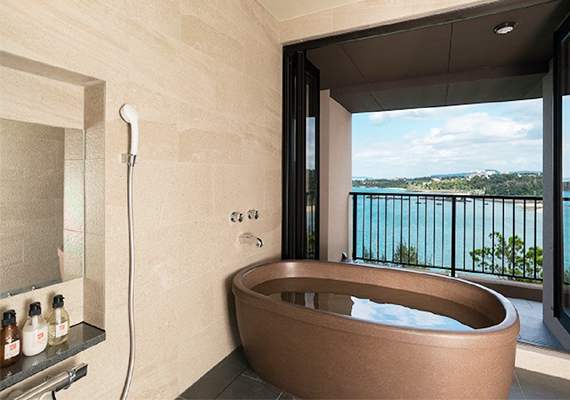 View bath of majestic view which are provided in all guest rooms