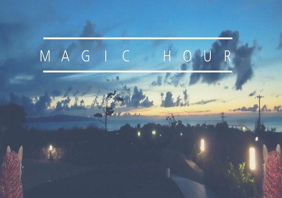 You can watch magic hour in front of the hotel!