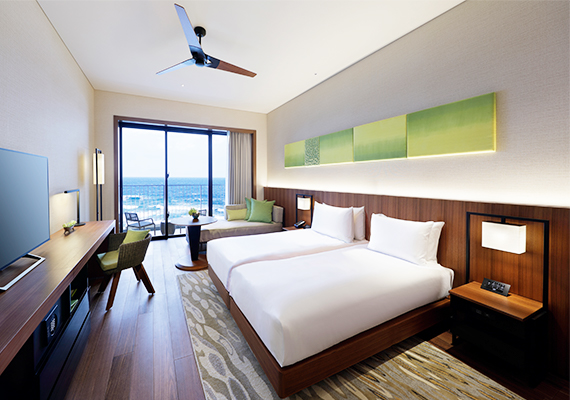 Open-air balcony is available in all guest rooms so you can enjoy the sea views.