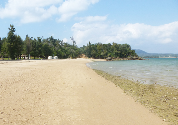 We can enjoy sea bathing or BBQ in nature beach of neighborhood
