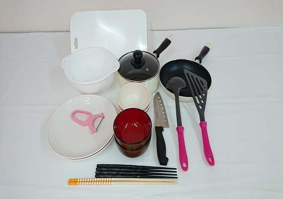 It is with all guest rooms, cooking set