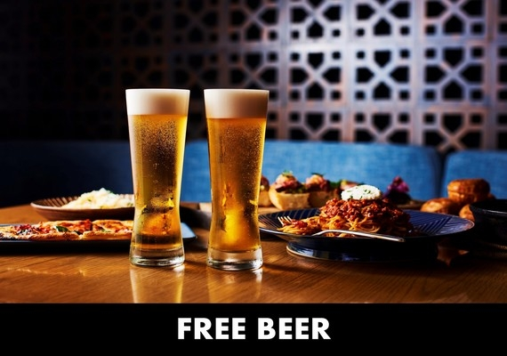 There is free beer time for guests only!