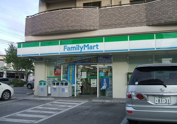It is a 3-minute walk to FamilyMart