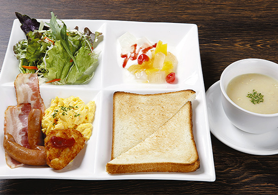 Breakfast menu (sample of Western-style dish)