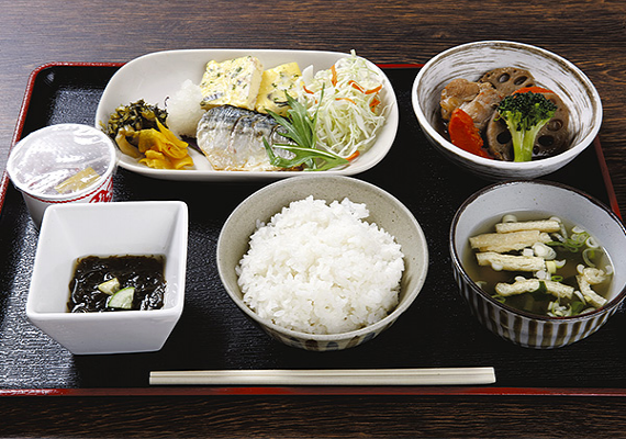 Breakfast menu (sample of Japanese-style dish)