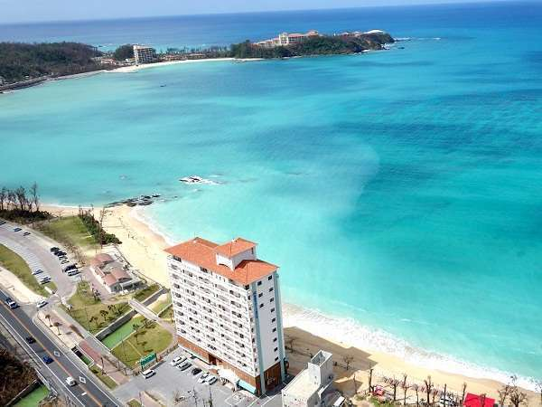All rooms oceanfront ☆ view from above the hotel