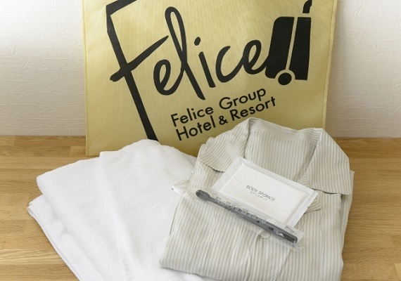 We hand bath towel and room clothes at the front desk. We perform cleaning exchange of the room♪