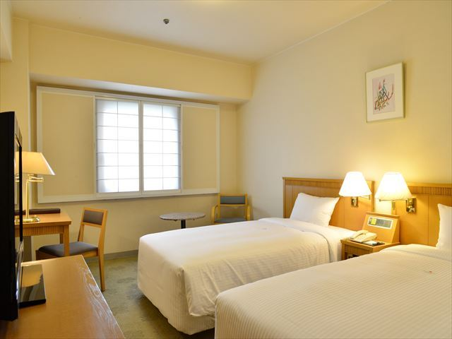 22.43 ㎡ standard twin room (non-smoking) / with bath and toilet