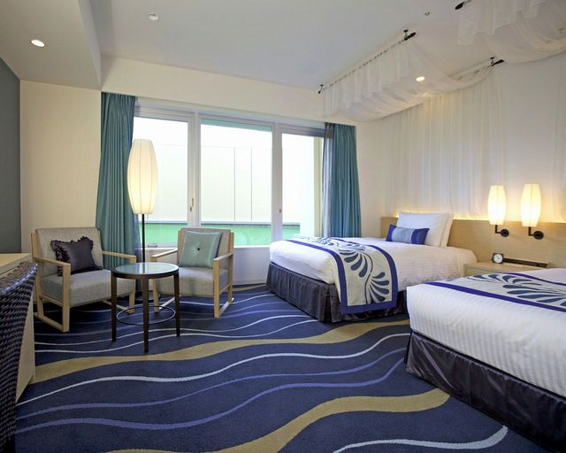 One of city view twin rooms