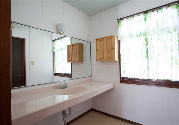 A lot of space is in front of bathroom also