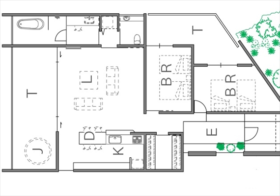 Sea Shisa. Room plan