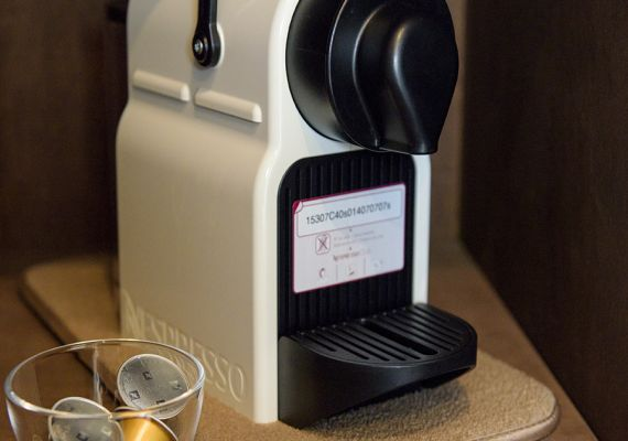 There is coffee maker in each room. As you become free, please use freely.