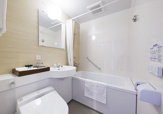 22 ㎡ twin room in River wing. Bathroom