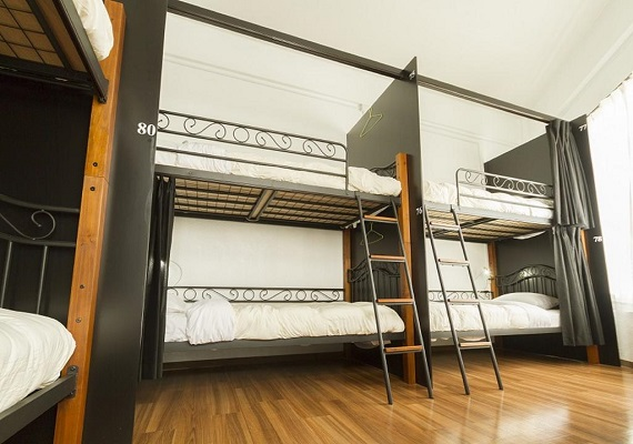 Private Room for 6 guests with Bunk beds (3F)