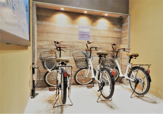 Rent-a-bicycle is available during stay, too (pay, first-come-first-served basis)