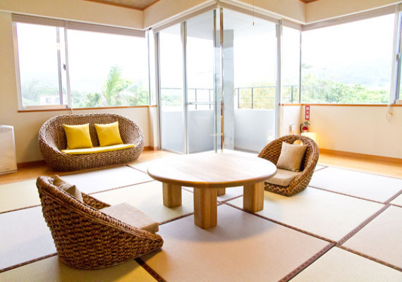 Japanese-style Room with Mountain Peak Views