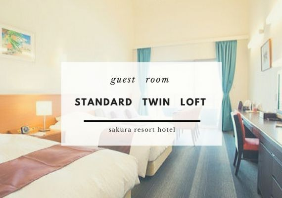 【Non-smoking room】Ocean view standard twin (with loft)