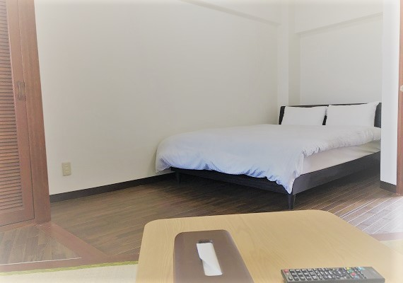 【Non-smoking】Japanese-style-room with double bed・With mini-kitchen