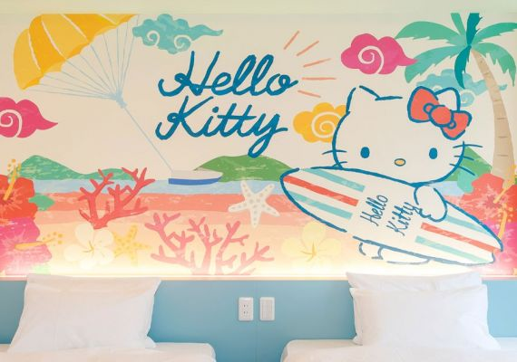 Hello Kitty design/bed