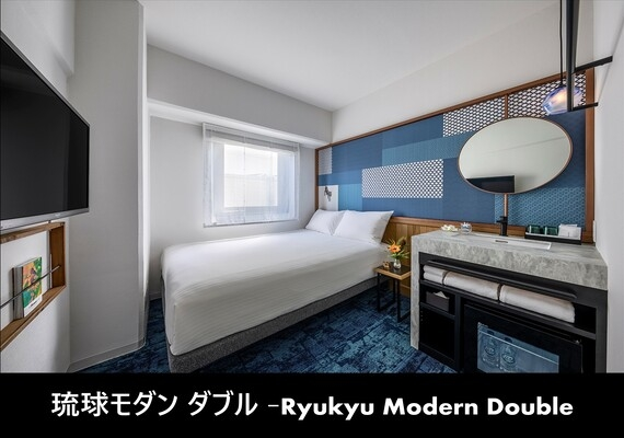 It is more fun by - accommodation in Ryukyu modern double - guest room. It is sense of fun and convenience that there is because it is designer hotel.