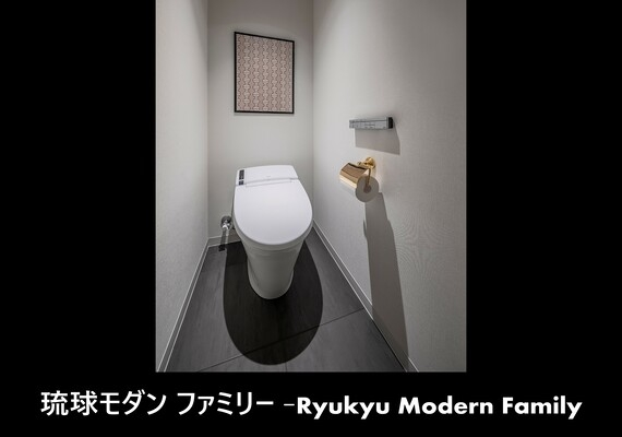 We set up different art flame by each Ryukyu modern family - powder room - room type!