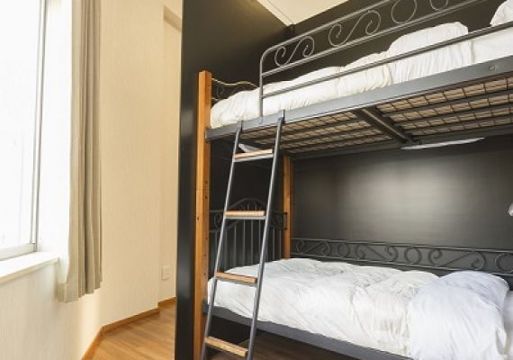 Private Room for 4 guests with Bunk beds (4F)