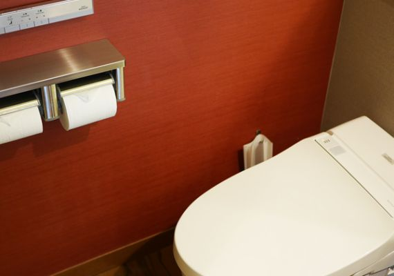 All rooms have toilets equipped with washlet!
