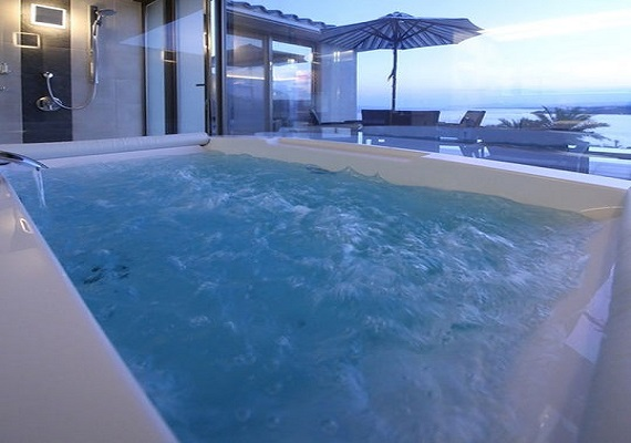 Relax in jacuzzi bath