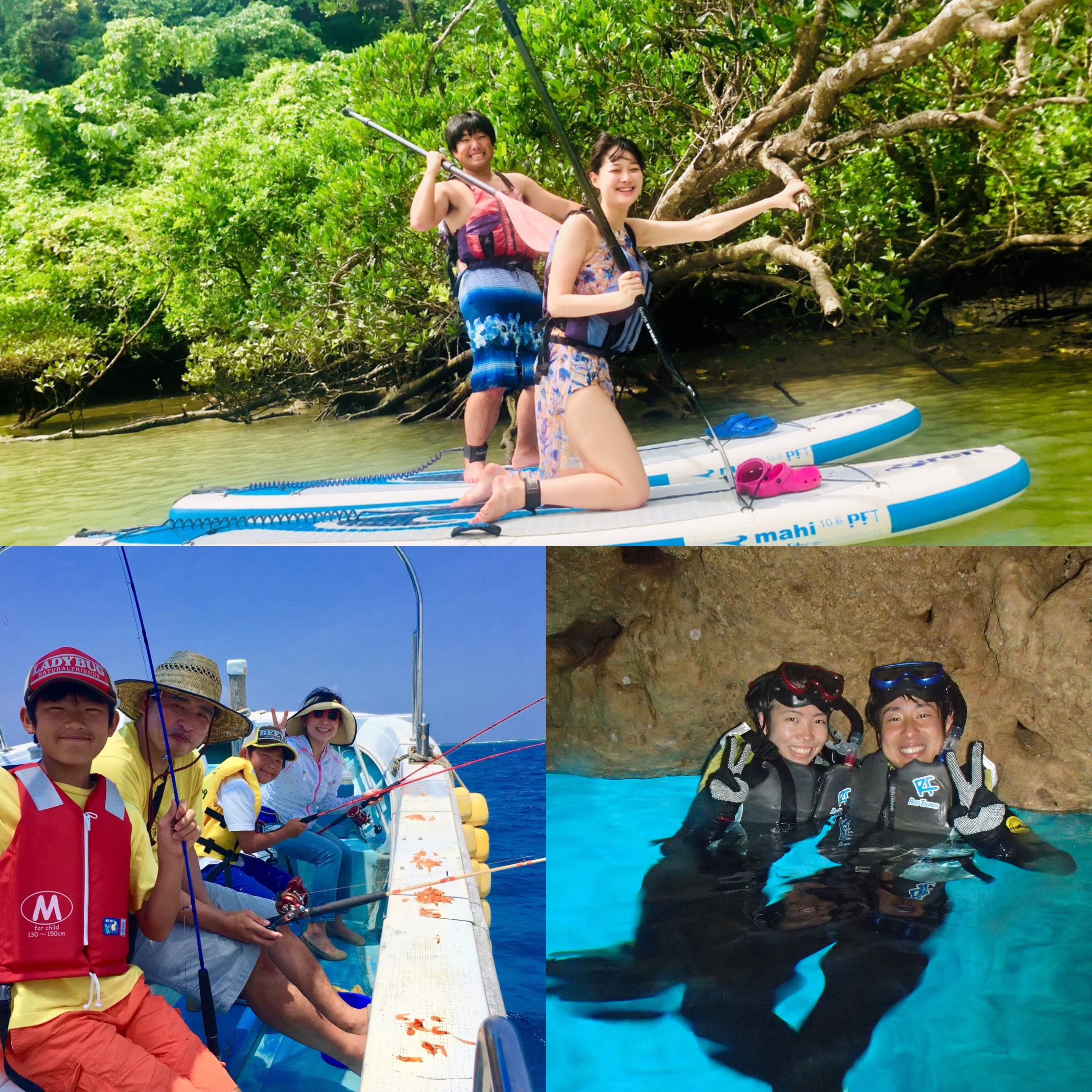 【OTS Special Offer】Wow!1 day tour with this price?! SUP+Fishing+Blue Cave package tour!!