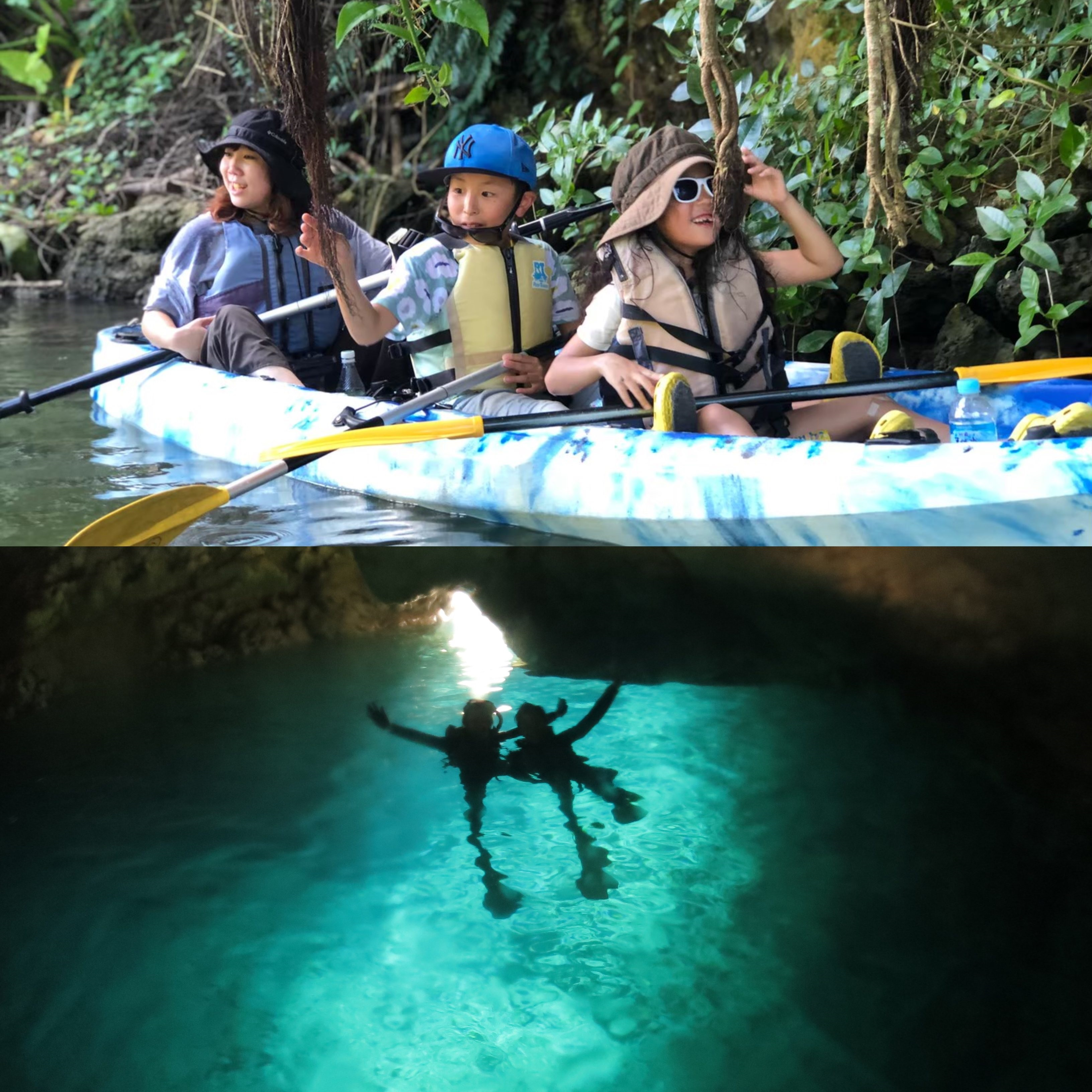 【Half day fully enjoy set course】Mangrove kayak & Blue Cave snorkel ☆ (required time: about 4 hours)