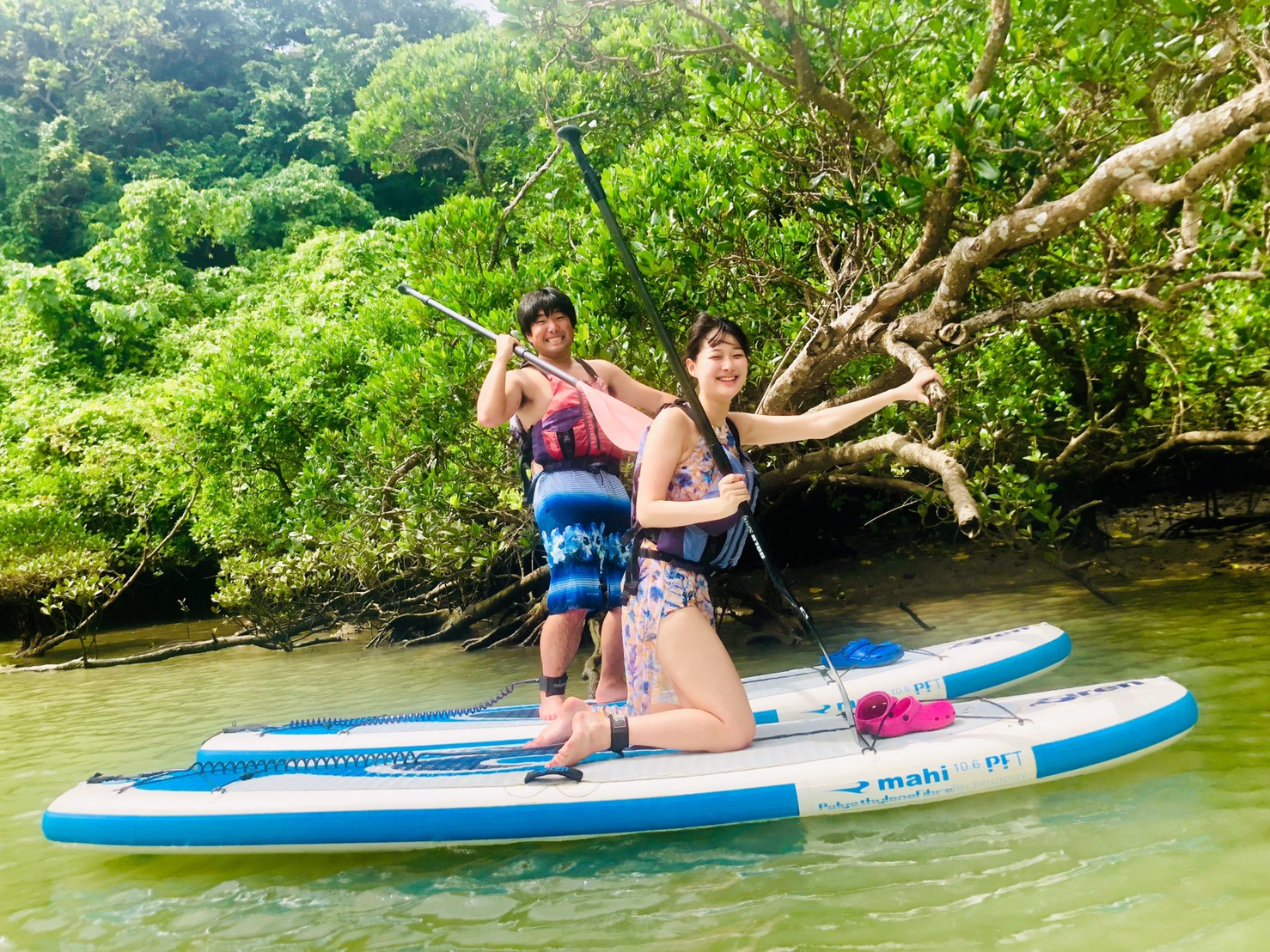 Reservation on the day of activity is OK!【Okinawa / Kadena】Play in the nature! Mangove SUP (stand up paddle boarding) tour!