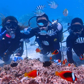 Full charter instructor!! Blue Cave & Anemone fish Castle diving experience!!