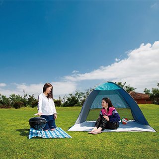 Experience open-air camping in The Yuinchi Hotel!