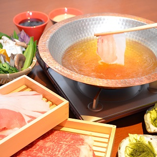 Masterpiece! Course with shabu-shabu with Agu pork + island vegetables buffet