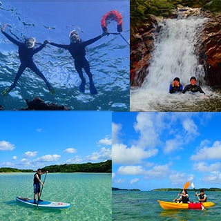 【Ishigaki Island Most Popular Tour】Canoe or SUP in Kabira Bay, Snorkel in Blue Cave, and Swim in a Waterfall Basin!