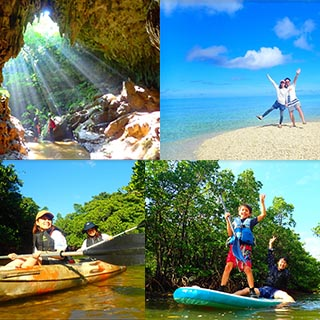 【Iriomote Island Most Popular Tour】 Canoe or SUP Through a Mangrove, Explore a Limestone Cave, and Visit Baras Island!