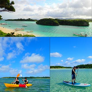 【Ishigaki Island】【Half-day】SUP or Canoe Tour in Kabira Bay! 【Free Photo Data】