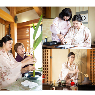 【3 Japanese culture experiences in Onna-son, on Sundays】(Calligraphy, tea ceremony, flower arrangement)