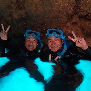 Blue Cave snorkel with free boat ride + Parasailing Value Package