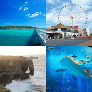[From Naha/Chatan]<C course>Starts from 1st February!! Reasonable price! Churaumi aquarium admission fee included!! American village & Kouri island & Manzamo cape, all ¥4,900