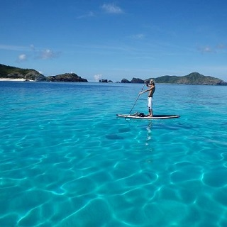 【Departure from Naha Tomarin Port by High Speed Ferry】Enjoy the Coral paradise of Zamami Island・SUP Tour!