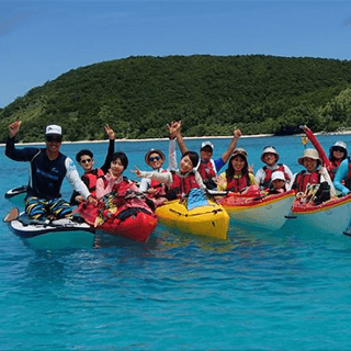 【Departure from Naha Tomarin Port by High Speed Ferry】Zamami island Kayak tour around uninhabited islands (1 Day Tour)