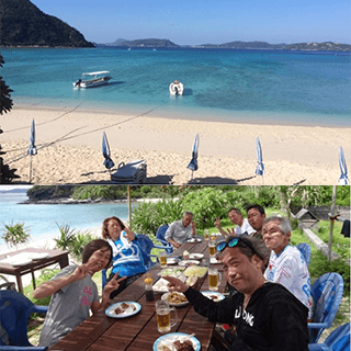 【Naha departure by High-Speed Ferry】Tokashiki Island's Tokashiku Beach Sea Bathing & BBQ Plan