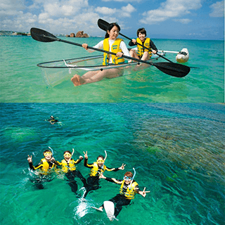 SET Promotion! Clear Kayak & Boat Snorkel Tour