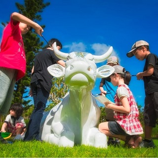 "【Cow Art】""Paint the cow"" activity + admission ticket to Southeast Botanical Gardens!"