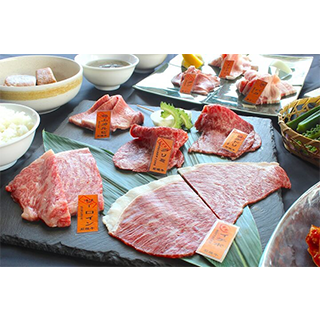 Enjoy beef and pork from our yakiniku multi-course menu♪