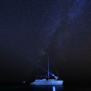 Sky dotted with stars ~ Tingara cruise ~