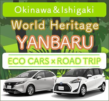 【Okinawa Main island Ishigaki island】World heritage ECO CARSxROAD TRIP