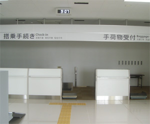 Pass through the customs and come out of the exit of the international airport.